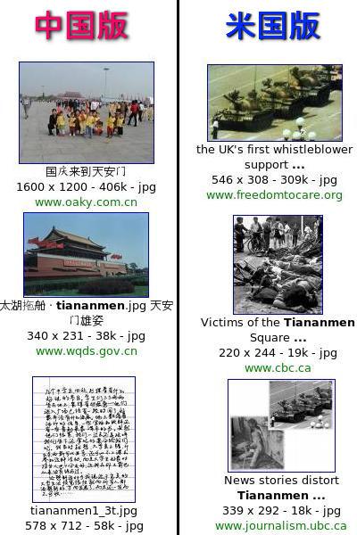 中国版Googleに天安門事件が表示されない02