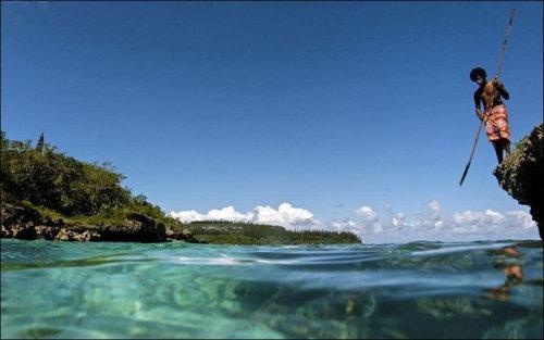 ニューカレドニアのモリ漁01