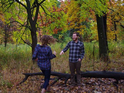 森の中で自動撮影にしてプロポーズ02