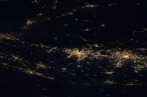 ISSから見た夜景17