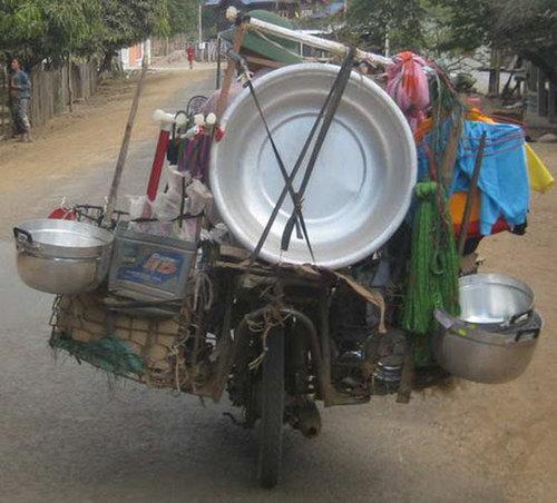 バイクで物を運ぶ限界11
