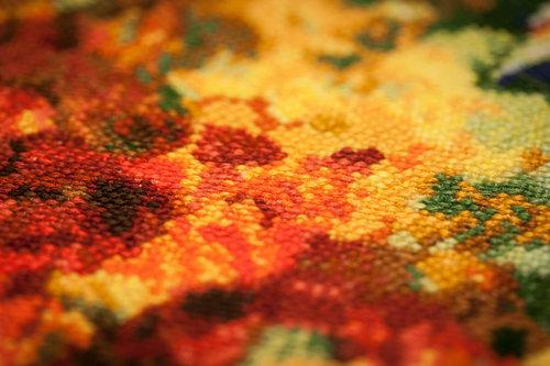 おばあちゃんのクロスステッチ刺繍03