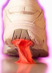 ガムが靴にくっつく