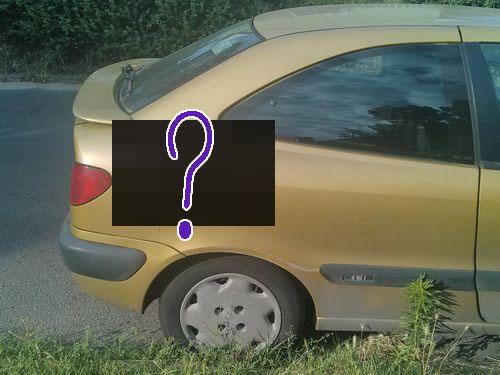 車に猫の落書き00