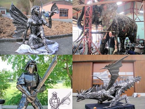 リサイクル彫像00
