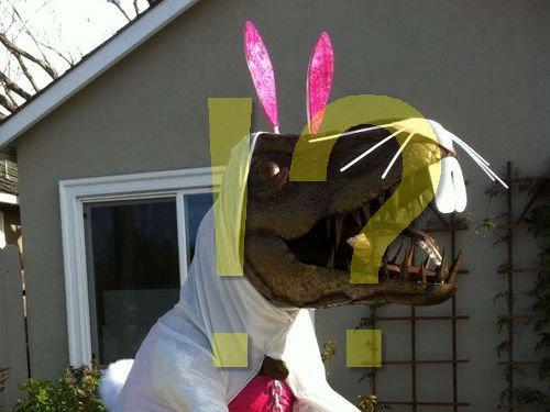 庭にいる恐竜00