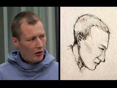 美術の先生が犯人の似顔絵を描いて逮捕