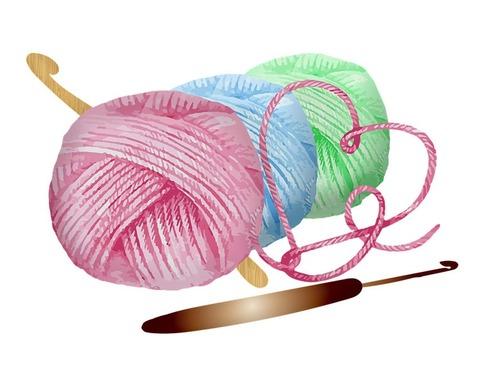 、右は編み物!」