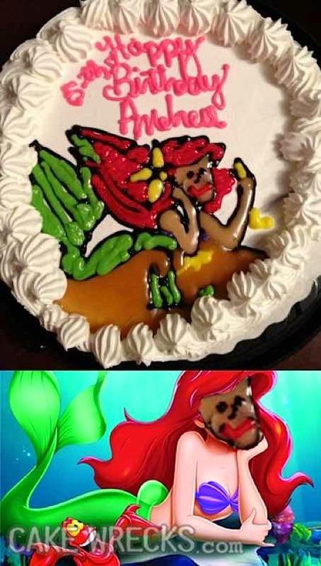 残念なディズニーケーキ01
