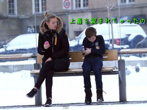 寒空の下、上着を盗まれちゃった子供が…どうする?00