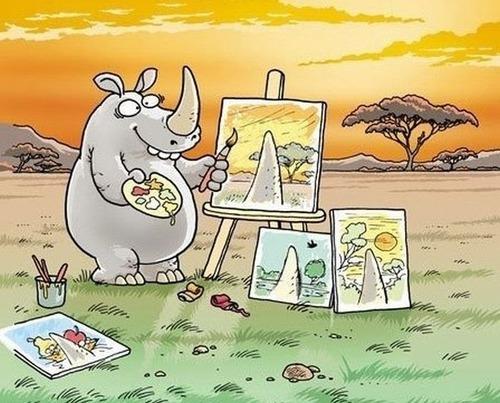 サイが絵を描いたら01