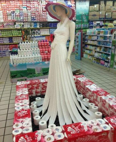 トイレットペーパー・ドレス01