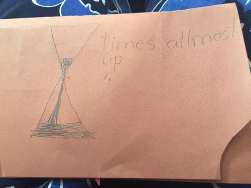 小学1年生の書いた老人ホームへの手紙が01