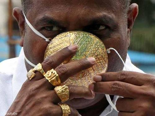 インドの金持ちが超高級マスク03