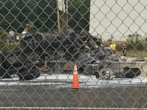 サウスカロライナ州でタンクローリーが爆発02