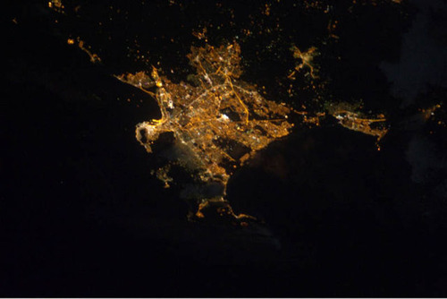 ISSから見た夜景27