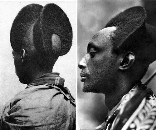 100年前のルワンダの伝統的な髪型06