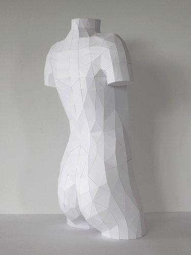 人体模型ペーパークラフト01