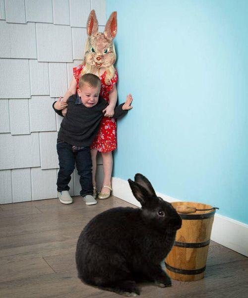 ウサギが怖い子供02