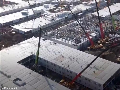 中国でコロナウイルス患者用の病院を10日で建設02