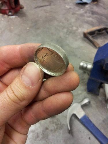 コインから作ったリング04