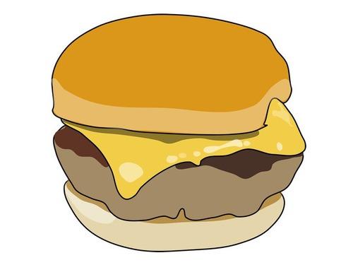 チーズ&ハンバーガーに見えるカエル