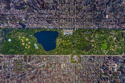 上空から見た都市02