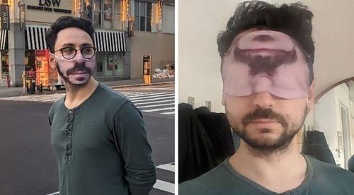 口元の印刷をしたマスク01