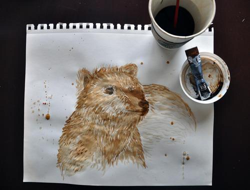 コーヒーでアート02