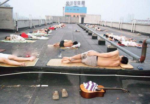 猛暑の武漢市05