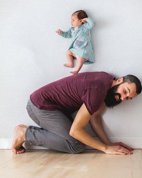 赤ちゃんの浮遊写真04
