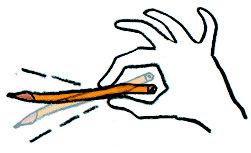 鉛筆で遊ぶクラスメート02