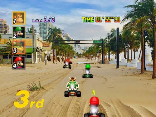 マイアミがマリオカートのコースになっていた03
