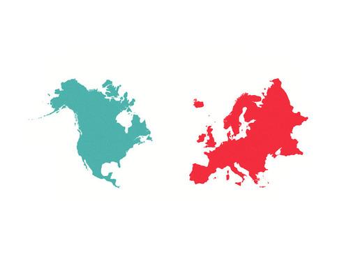 ヨーロッパと北米を同時に触る00