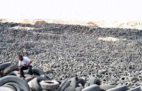 クウェートのタイヤ廃棄03