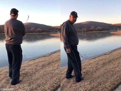 ゴルフボールを凍った湖に打ったときのサウンド02