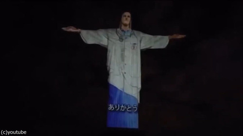 ブラジルのキリスト像が白衣姿に06