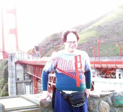 旅行先の景色を編んだセーター02