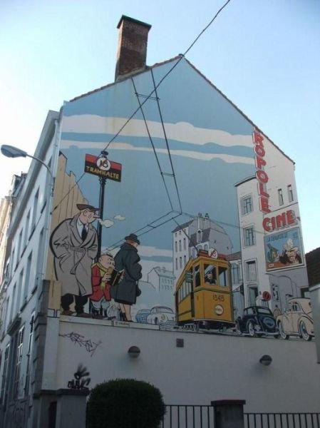 ベルギー・ブリュッセルに描かれたコミックス・グラフィティ20