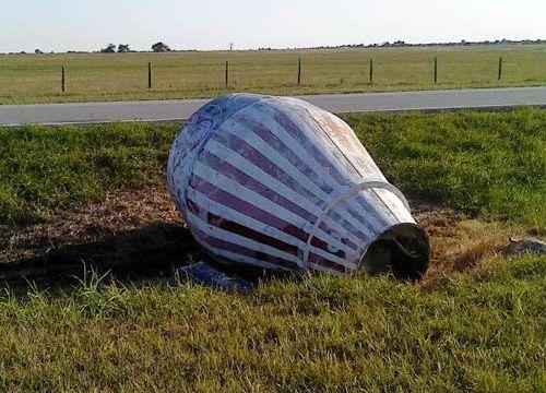 オクラホマ州に墜落したロケットのカプセル?02
