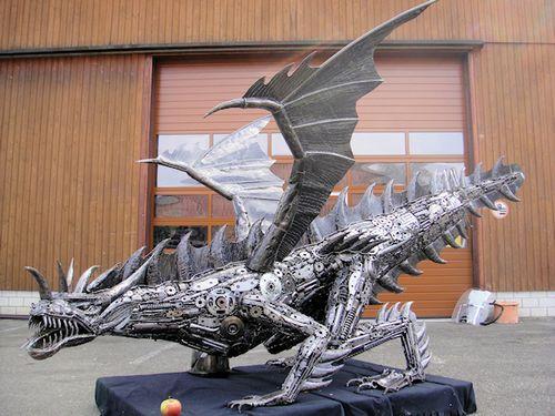 リサイクル彫像09