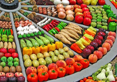 野菜の陳列アート02