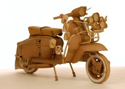 ダンボールアート-06オートバイ