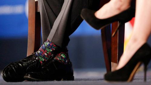 カナダ首相の靴下11