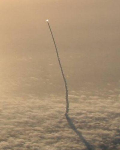 スカイダイバー撮影のスペースシャトル02