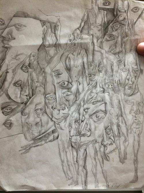 統合失調症の囚人が描いた絵01