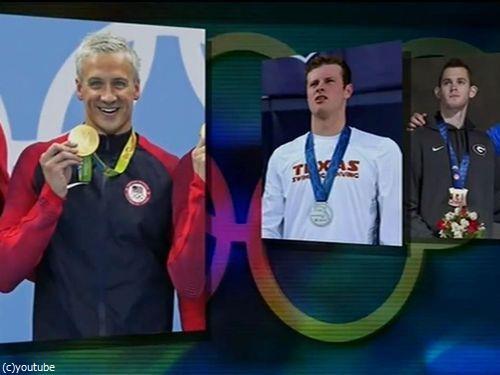 金メダルのアメリカ水泳選手が強盗をでっちあげ00