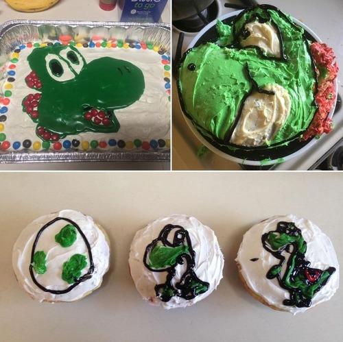 妻は毎年誕生日にヨッシーのケーキを作ってくれる01