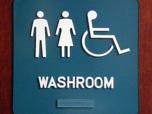 トイレで体重測定00
