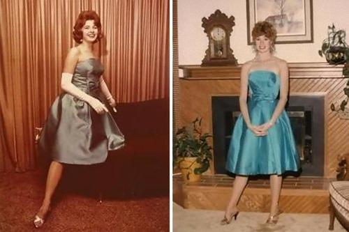 母親のドレスを着るアメリカの女子高生たち08